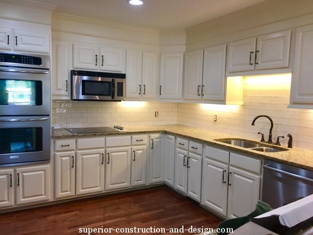 update oak cabinets, paint cabinets, Superior, Elizabeth Scruggs, TN
