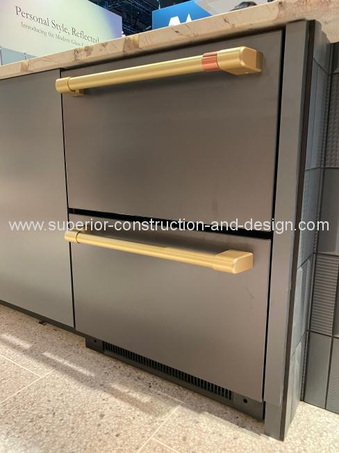 2-drawer-dishwasher chrome cafe appliances ge