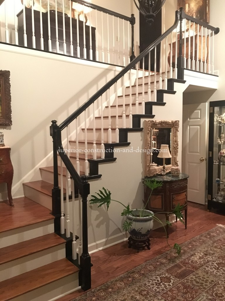 80's oak stairs updated