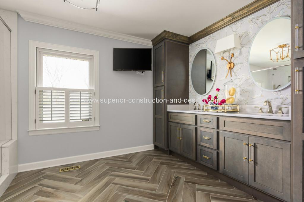 superior construction and design after bathroom renovation remodel
