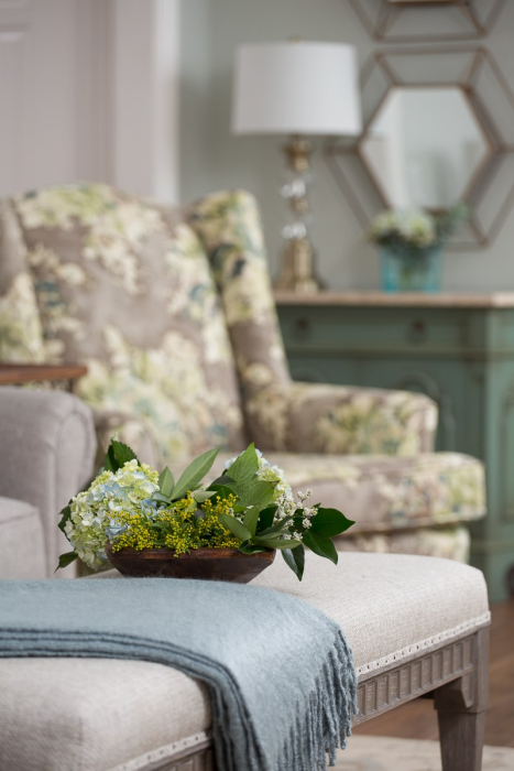 mt juliet tn interior design floral upholstered chair professionally renovated