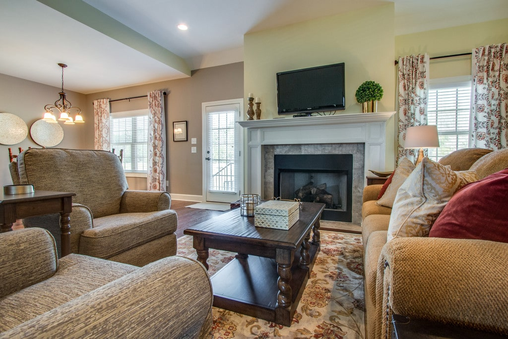 Traditional Family Room Redesign Elizabeth Scruggs Lebanon TN