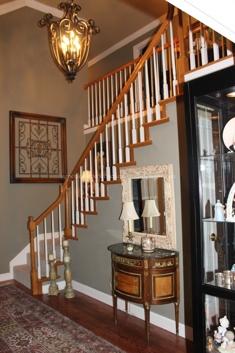 updated oak staircase Elizabeth Scruggs Lebanon TN