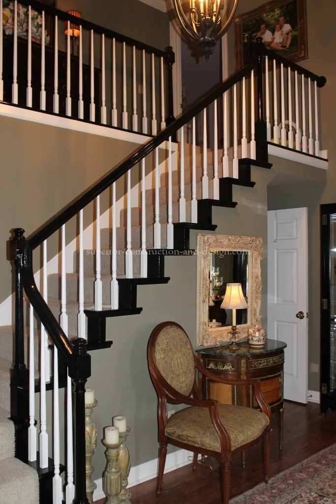 oak staircase redesign with paint Lebanon Tn