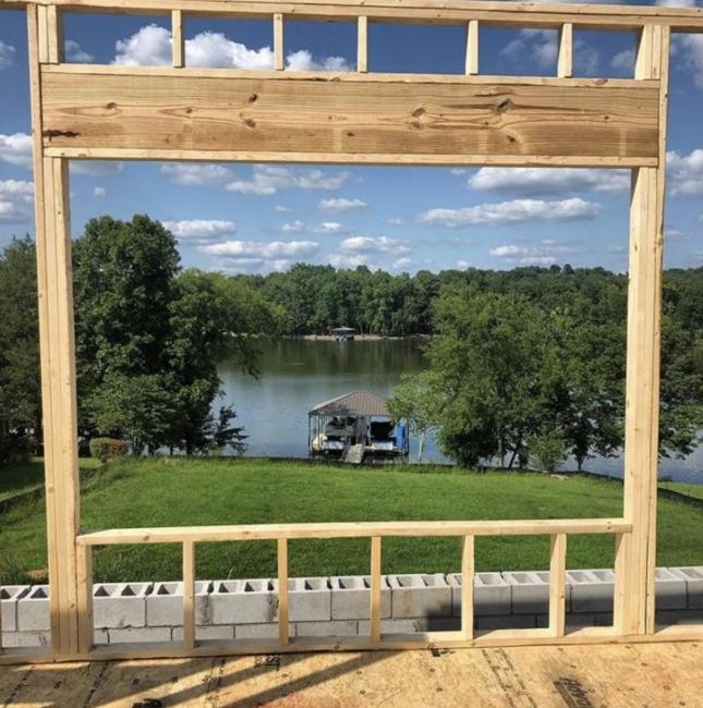 window frame new build lake home lebanon tn