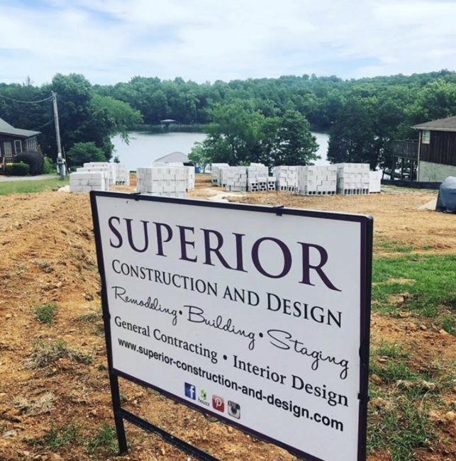 sign superior construction and design remodeling building staging interiors tn