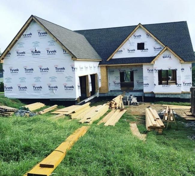 new build lake home in progress photo superior construction design tn