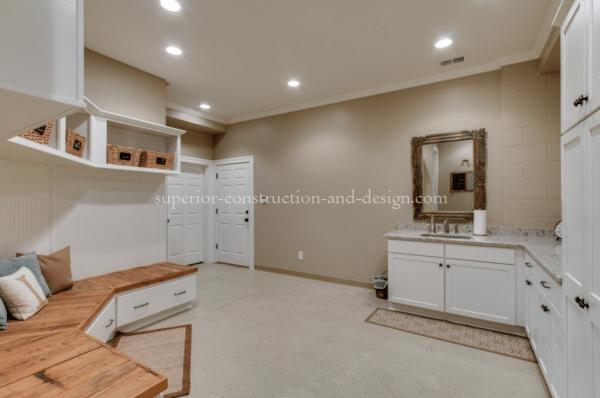 Superior Construction & Design mudrooms tn bench cabinets lighting flooring