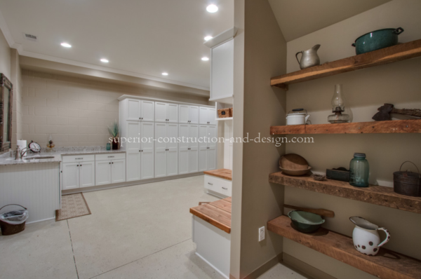 Superior Construction & Design mudrooms tn open floor plan place for shoes storage solutions