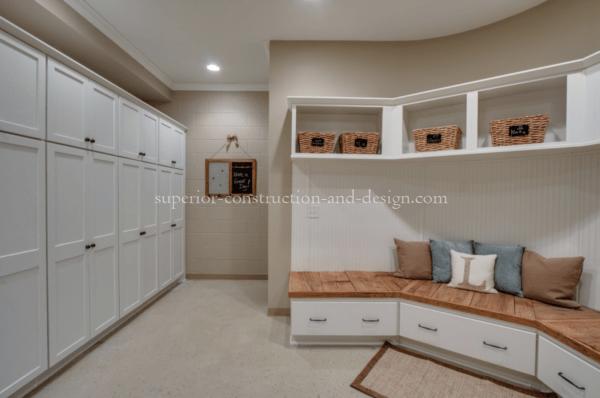 Superior Construction & Design mudrooms tn wooden bench cabinet basket essentials