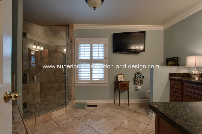 before superior construction and design bathroom remodel