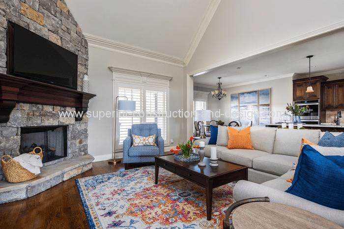 living room redecorating fresh updated traditional design decor orange blue