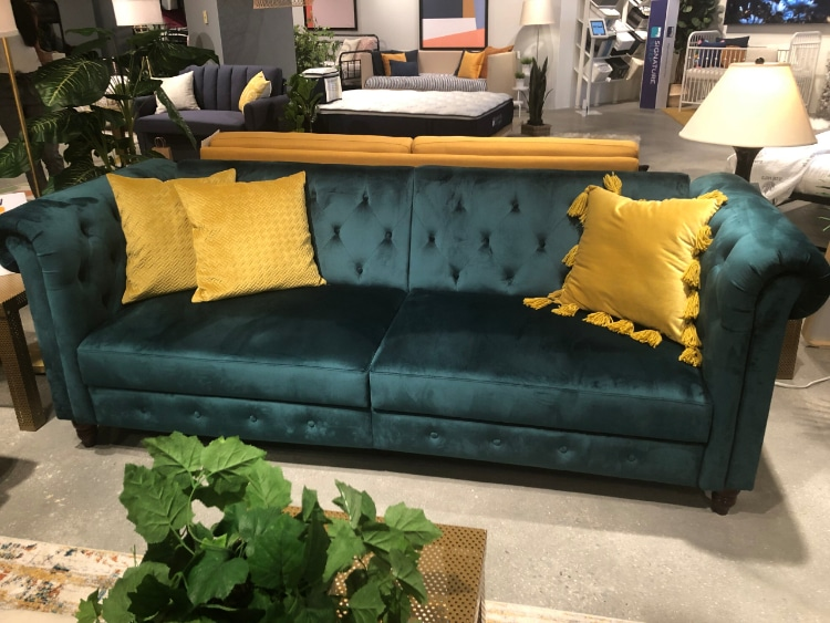 superior-construction-design-dorel-living-sectional-teal-traditional-fresh-media-room