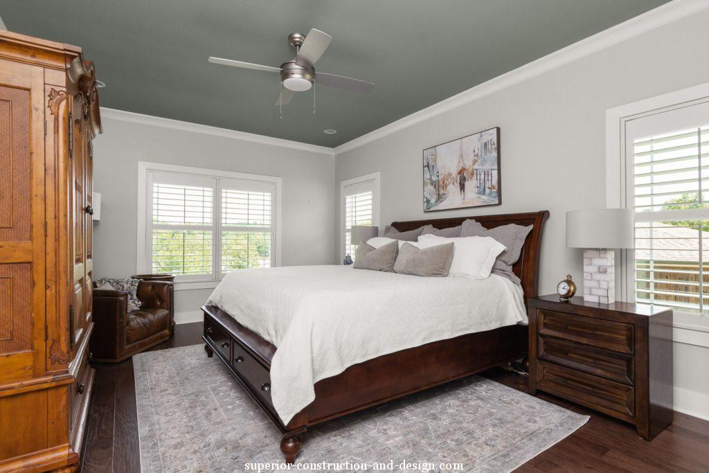 lake home new build superior construction and design gc master bedroom traditional fresh rich wood frame