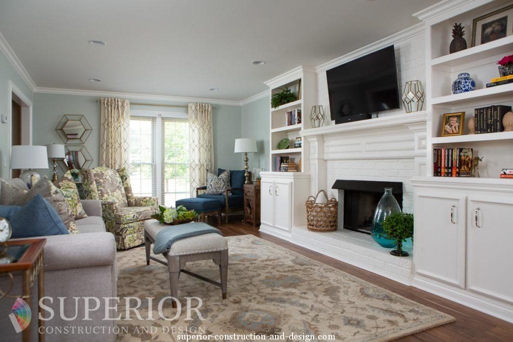 lebanon tn living room furnishings built in bookshelf fireplace sofa ottoman