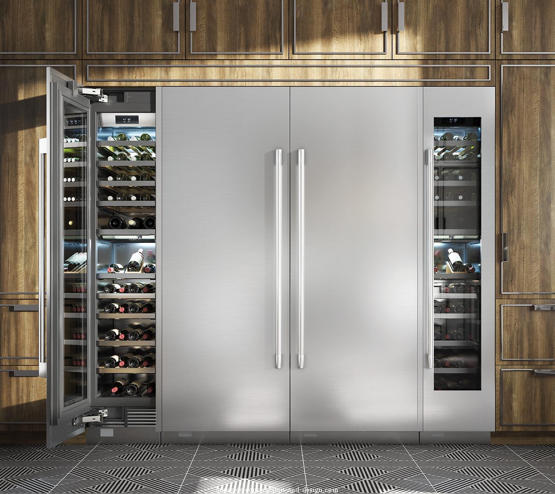 wine fridge column double door