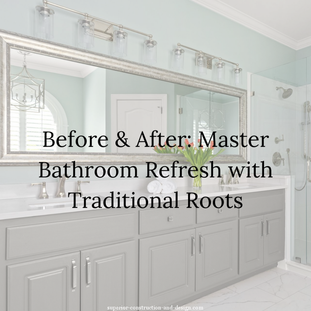 master bathroom refresh before and after transitional modern traditional mt juliet tn