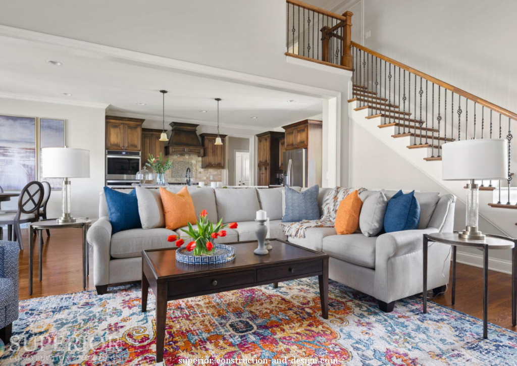 superior-construction-and-design-mt-juliet-tn-color-in-the-home-area-rug-colorful-grey-traditional-sectional-sofa